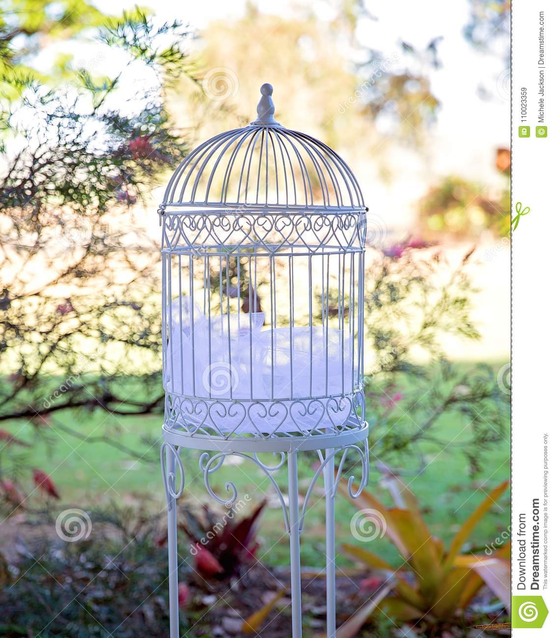 Decorative Bird Cage For A Garden Wedding Stock Image Image Of
