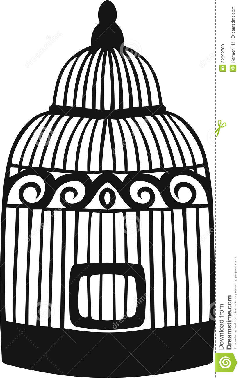 Decorative Bird Cage. Stock Photo - Image: 32092700