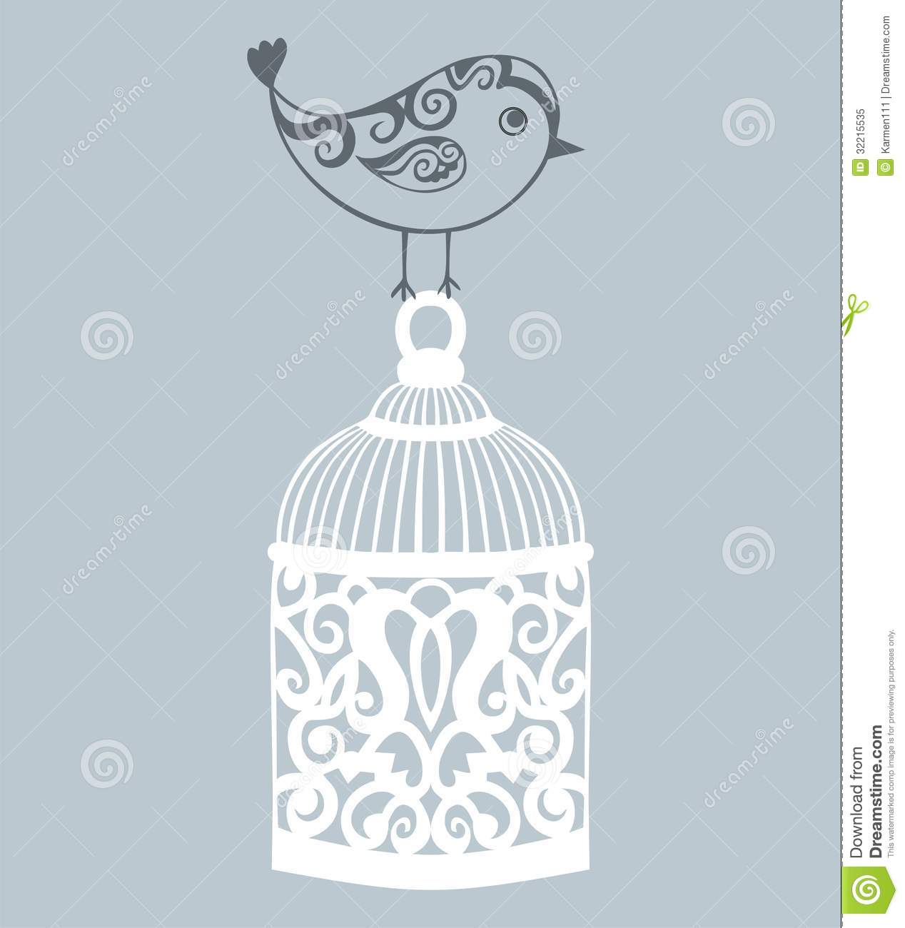 Decorative Bird Cage Stock Vector Image Of Home