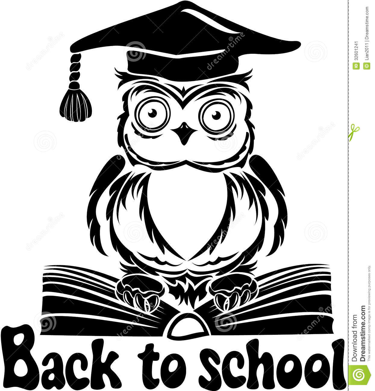 decorative bird owl with graduation cap and book stock owl clipart silhouette owl clipart silhouette