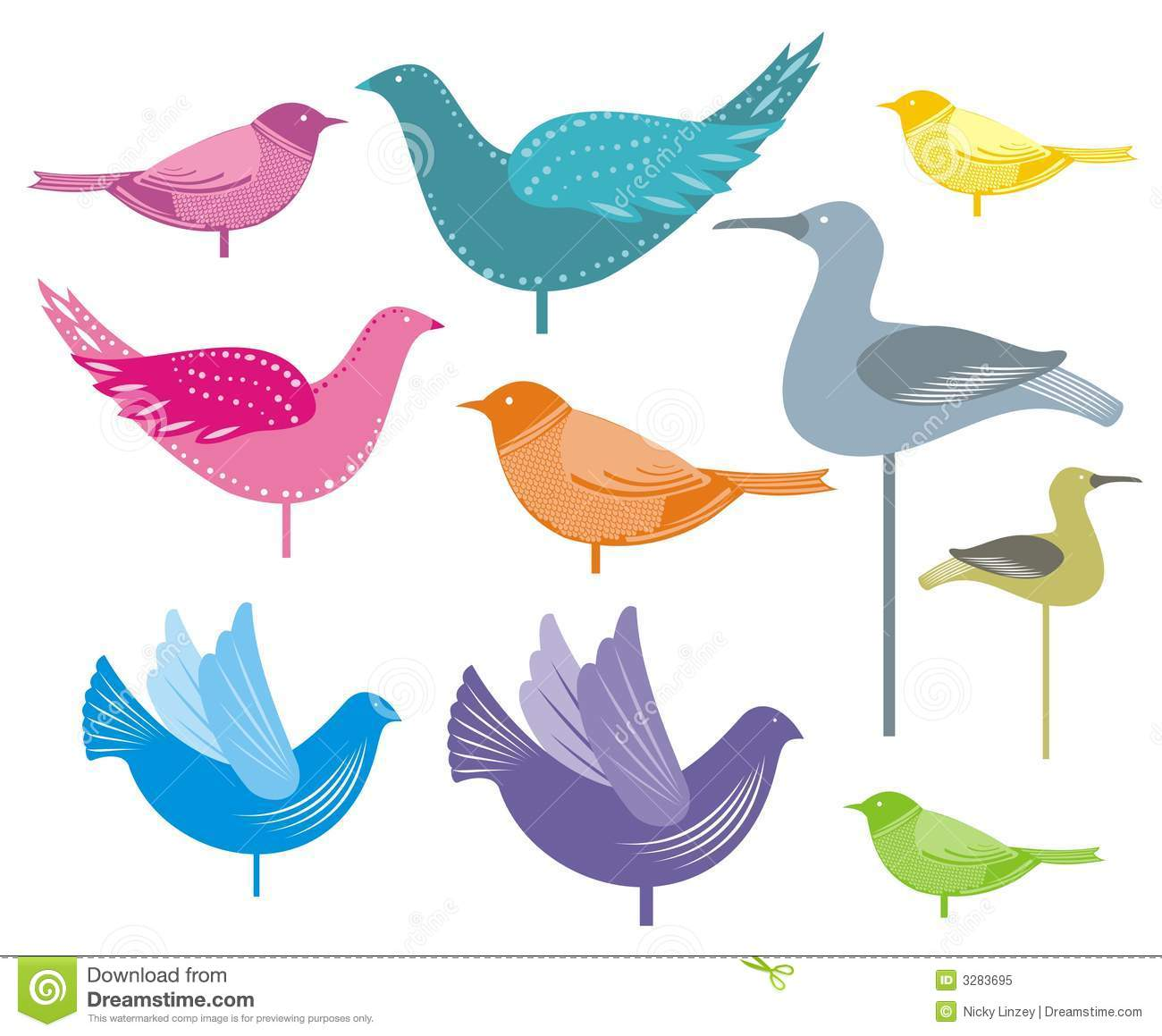 Decorative birds royalty free stock photo image 3283695 for Artificial birds for decoration