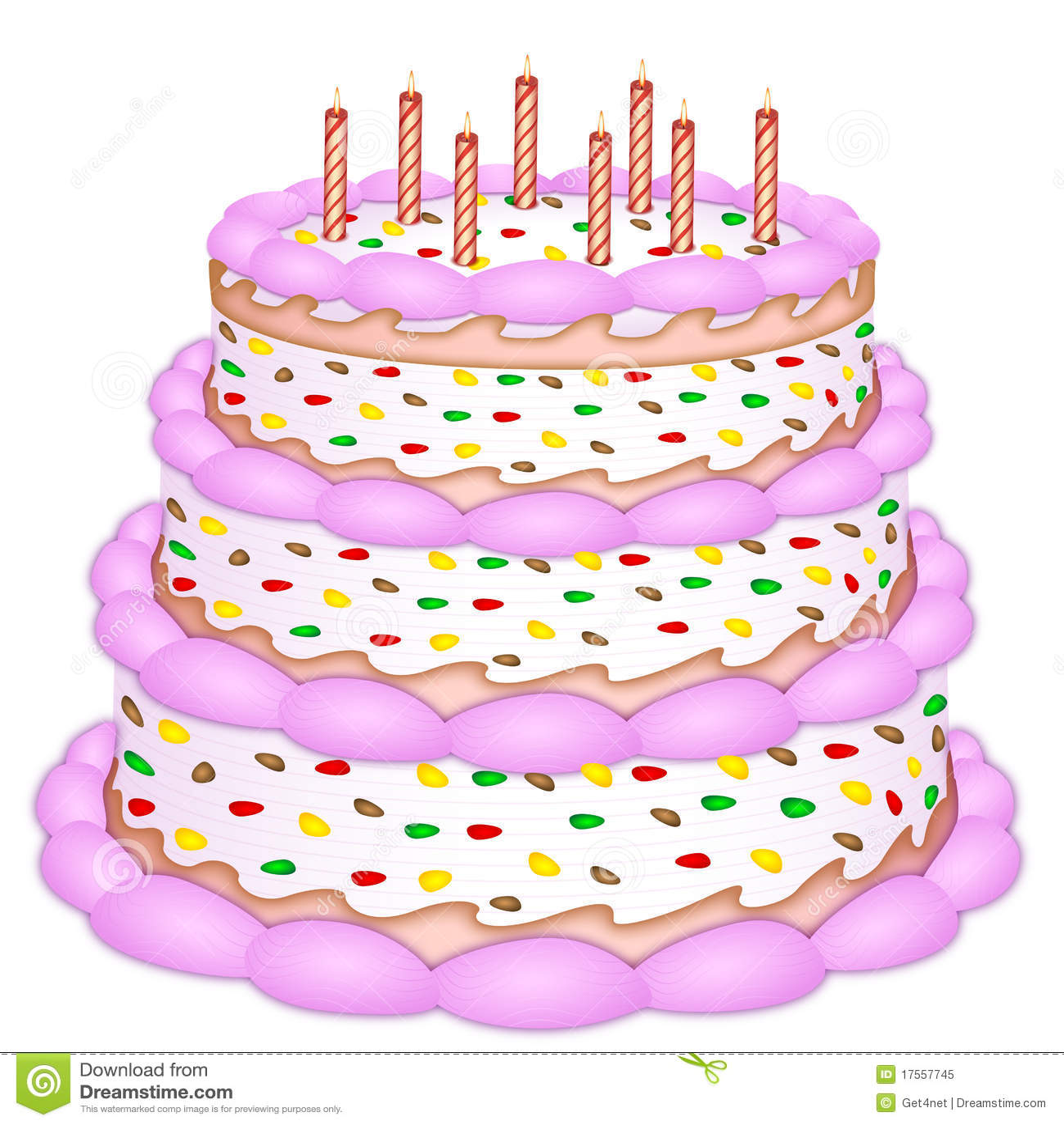 Decorative birthday cake
