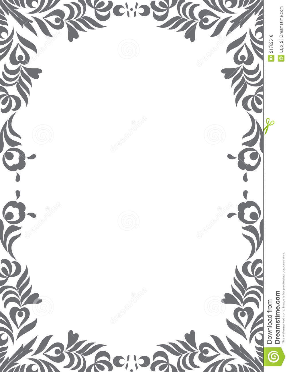Decorative Black And White Border Royalty Free Stock Photos Image