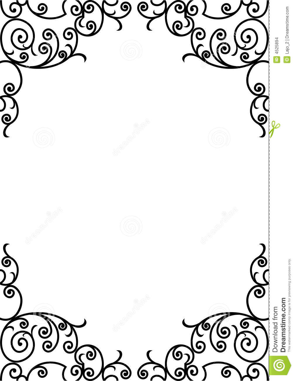A4 Paper Border Designs For Projects decorative black and white border ...