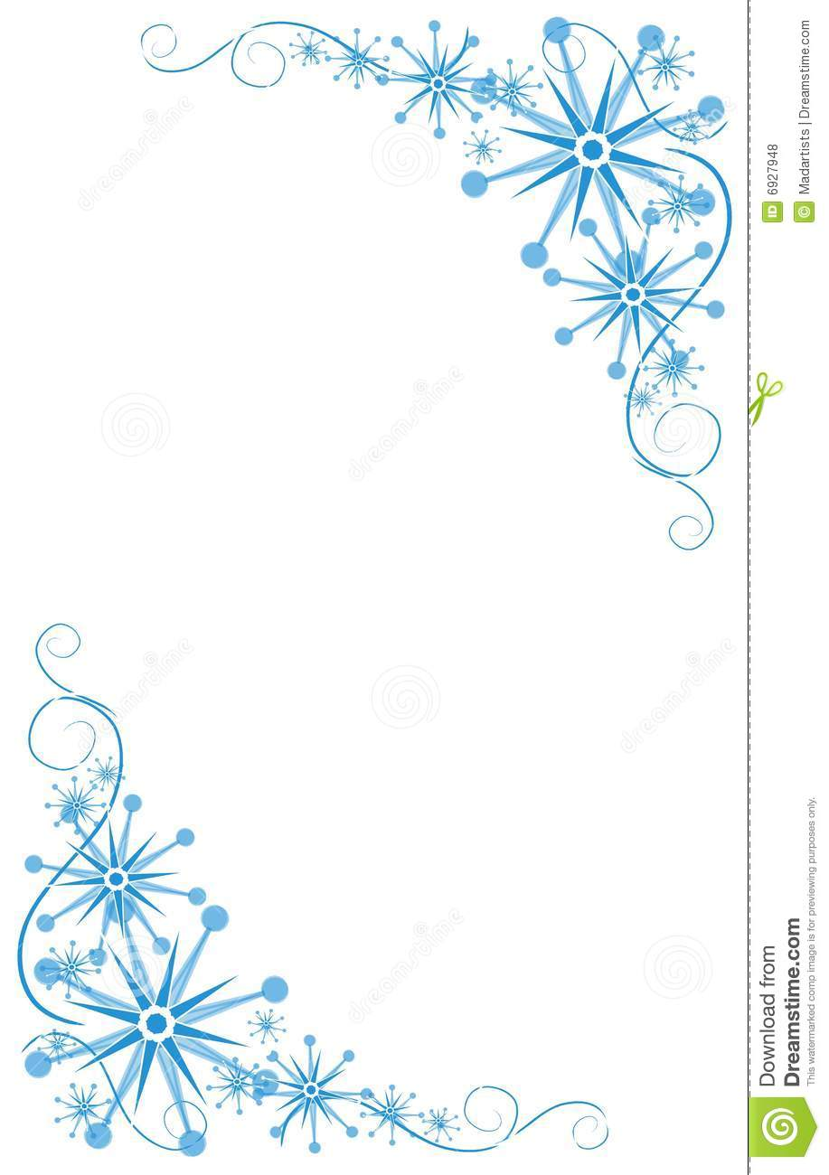 background illustration featuring blue Christmas and winter corner ...