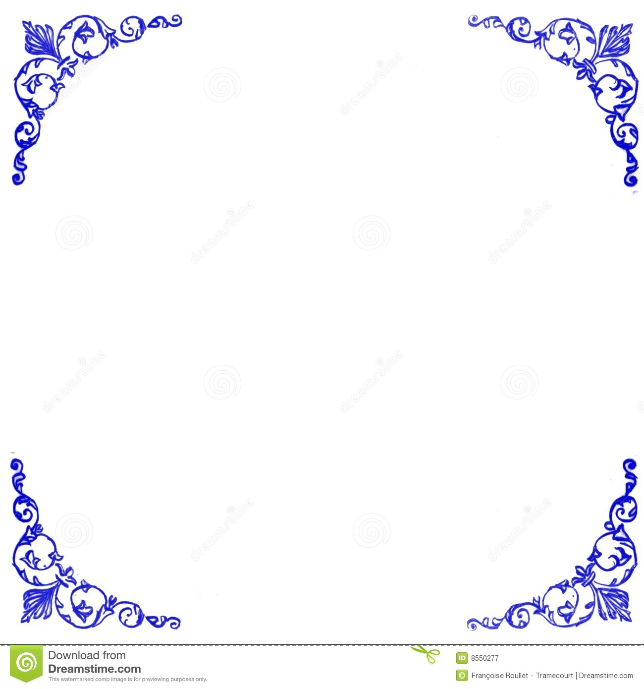 Decorative Blue Corners Background Stock Vector - Image ...