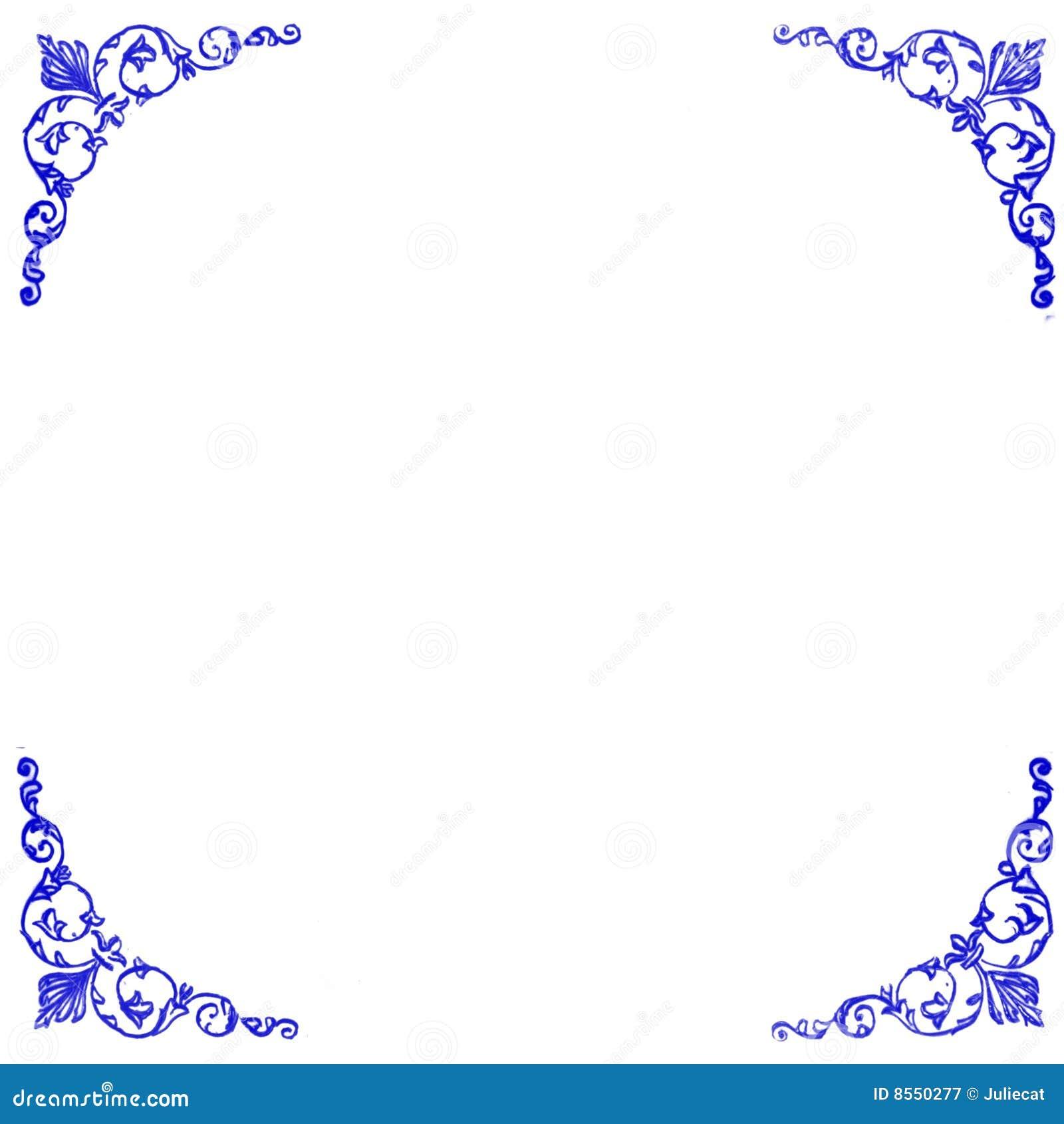 Decorative Blue Corners Background Royalty Free Stock ...