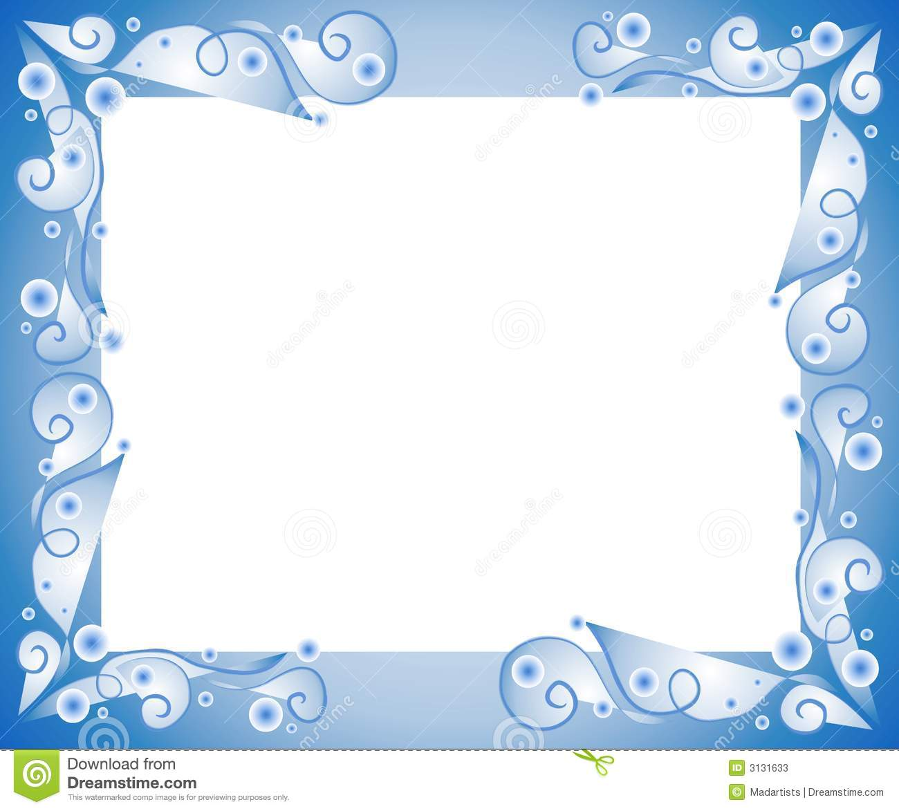 Decorative Blue Frame Border Stock Illustration
