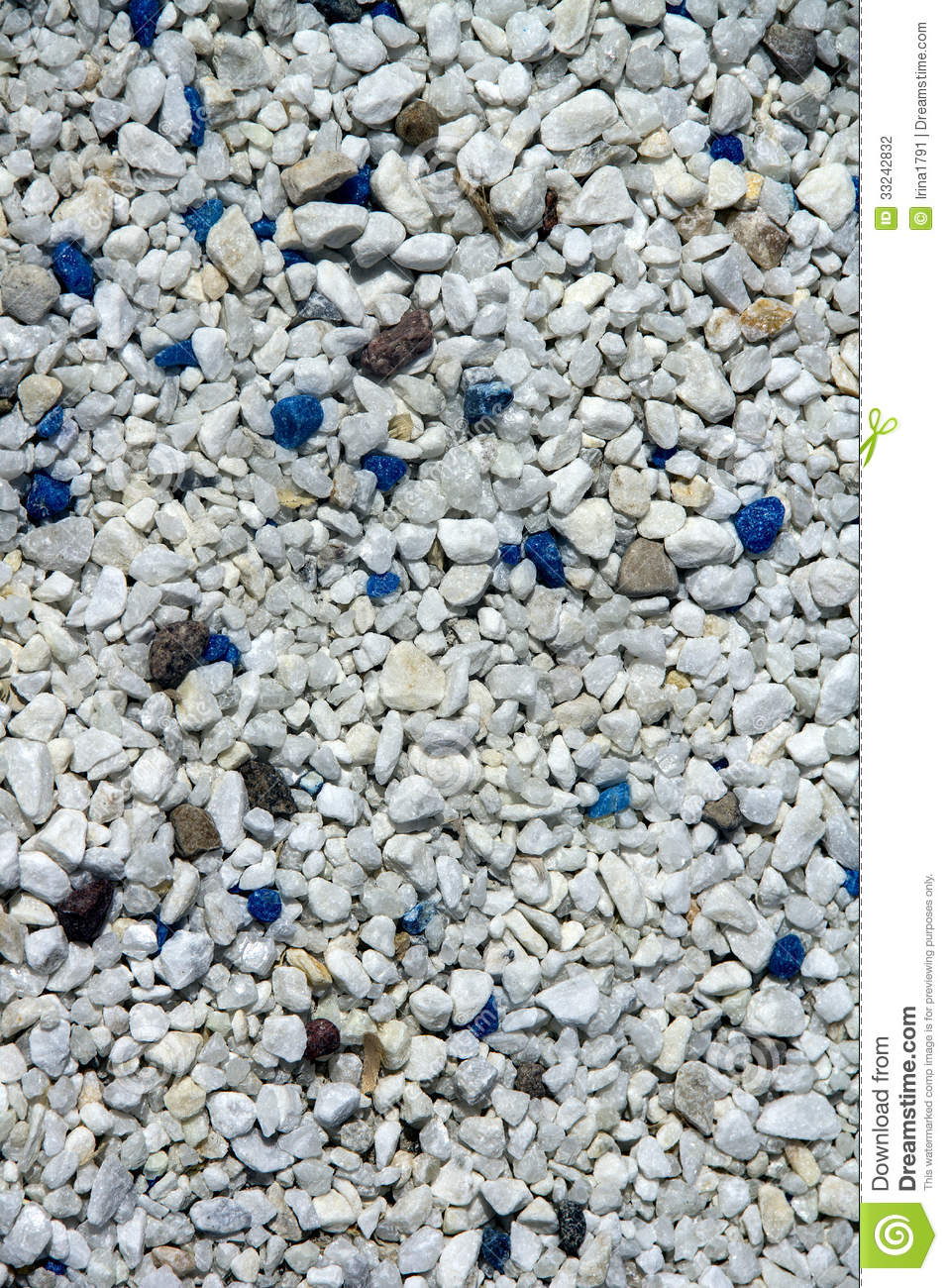 Decorative blue and white of stones stock photography for Different color rocks for landscaping