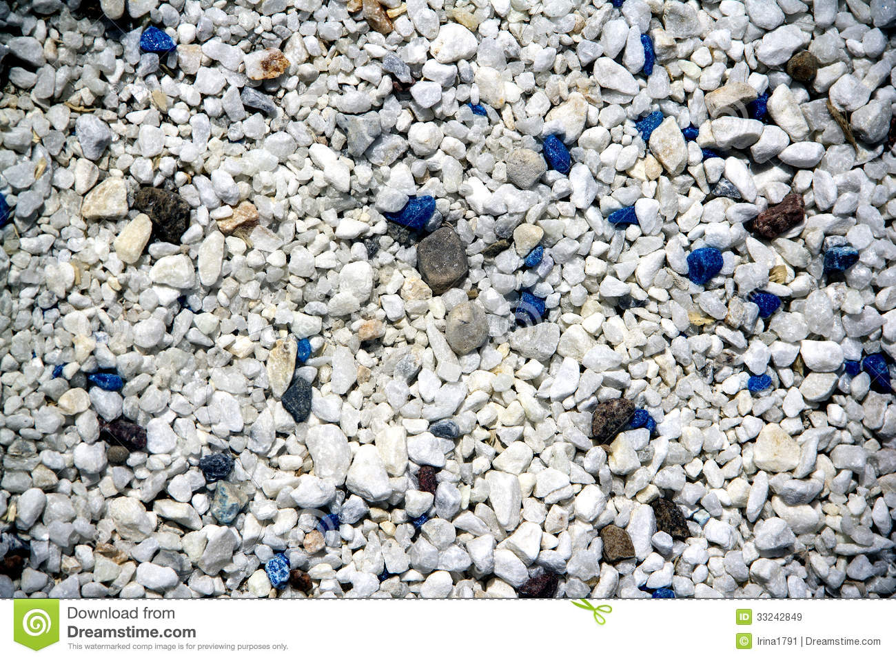 Decorative blue and white of stones royalty free stock for Different color rocks for landscaping