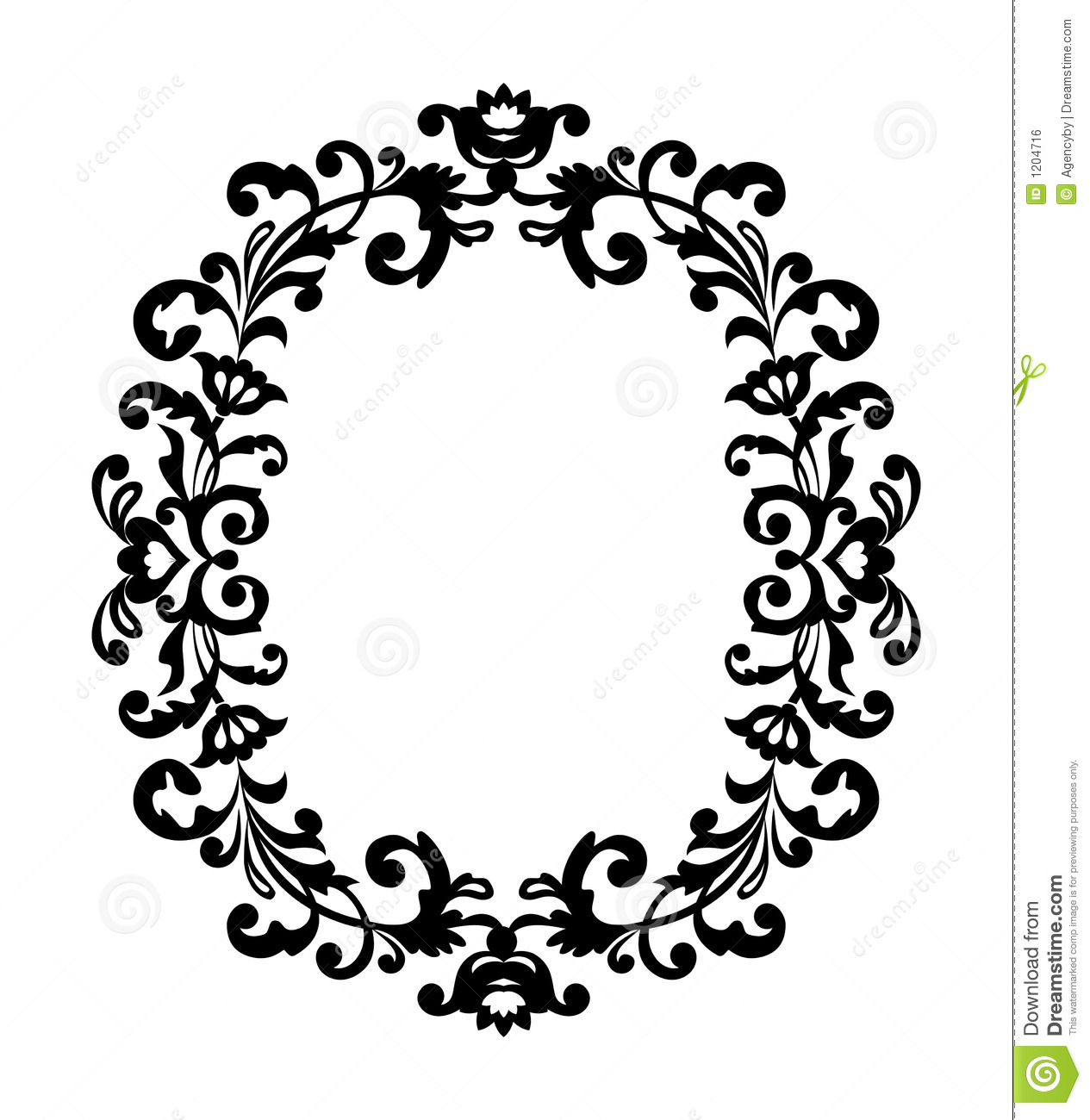 Decorative Black Flower Border Stock Image: Decorative Border Ornament Stock Vector. Illustration Of