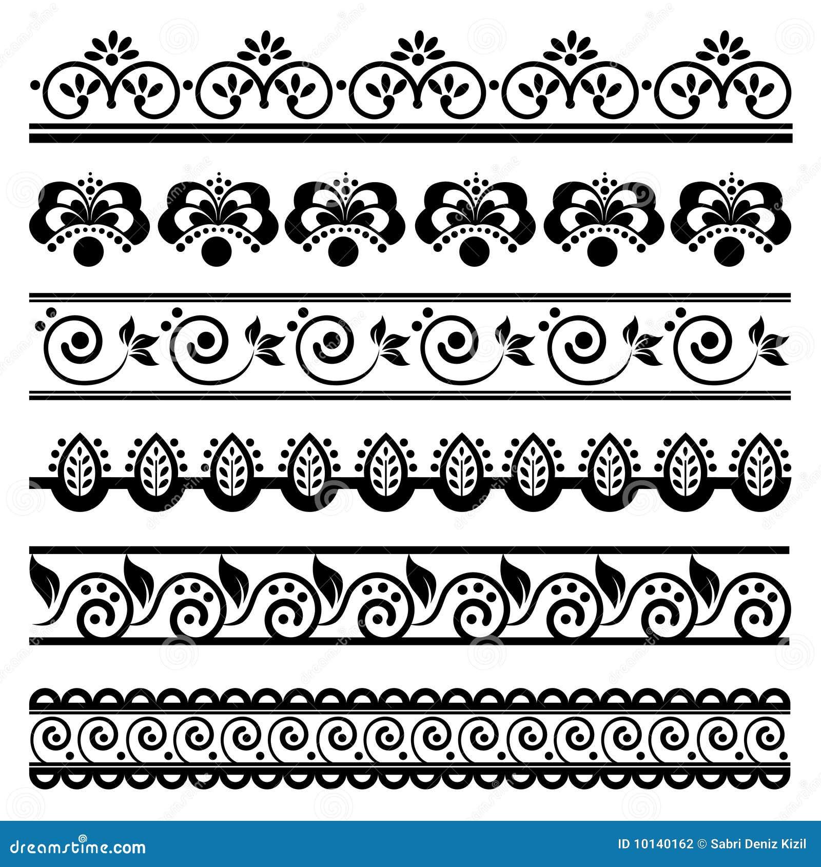 Decorative Border Set 1 Stock Vector Illustration Of