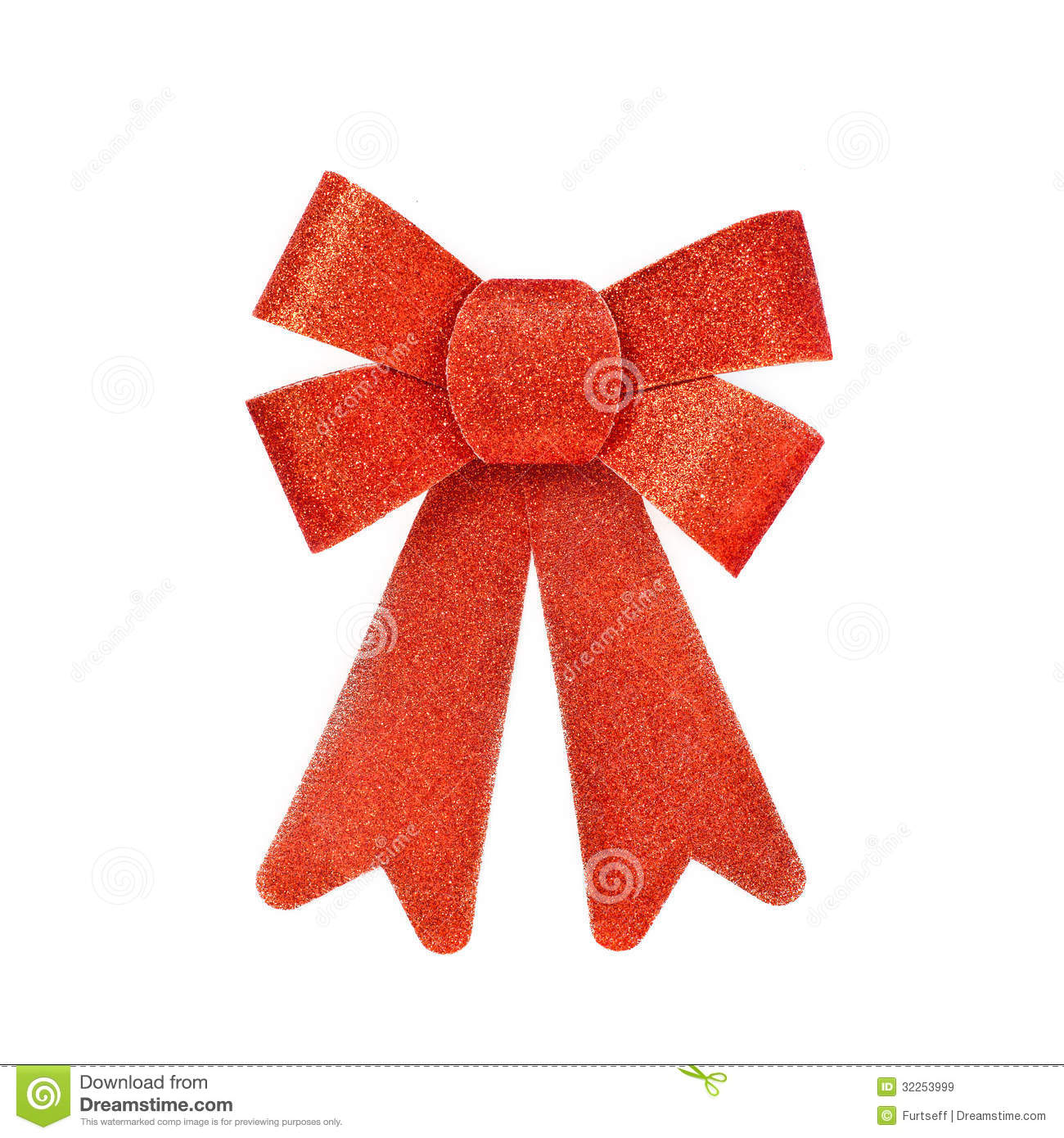 decorative bow of red shiny cardboard royalty free stock images image 32253999. Black Bedroom Furniture Sets. Home Design Ideas
