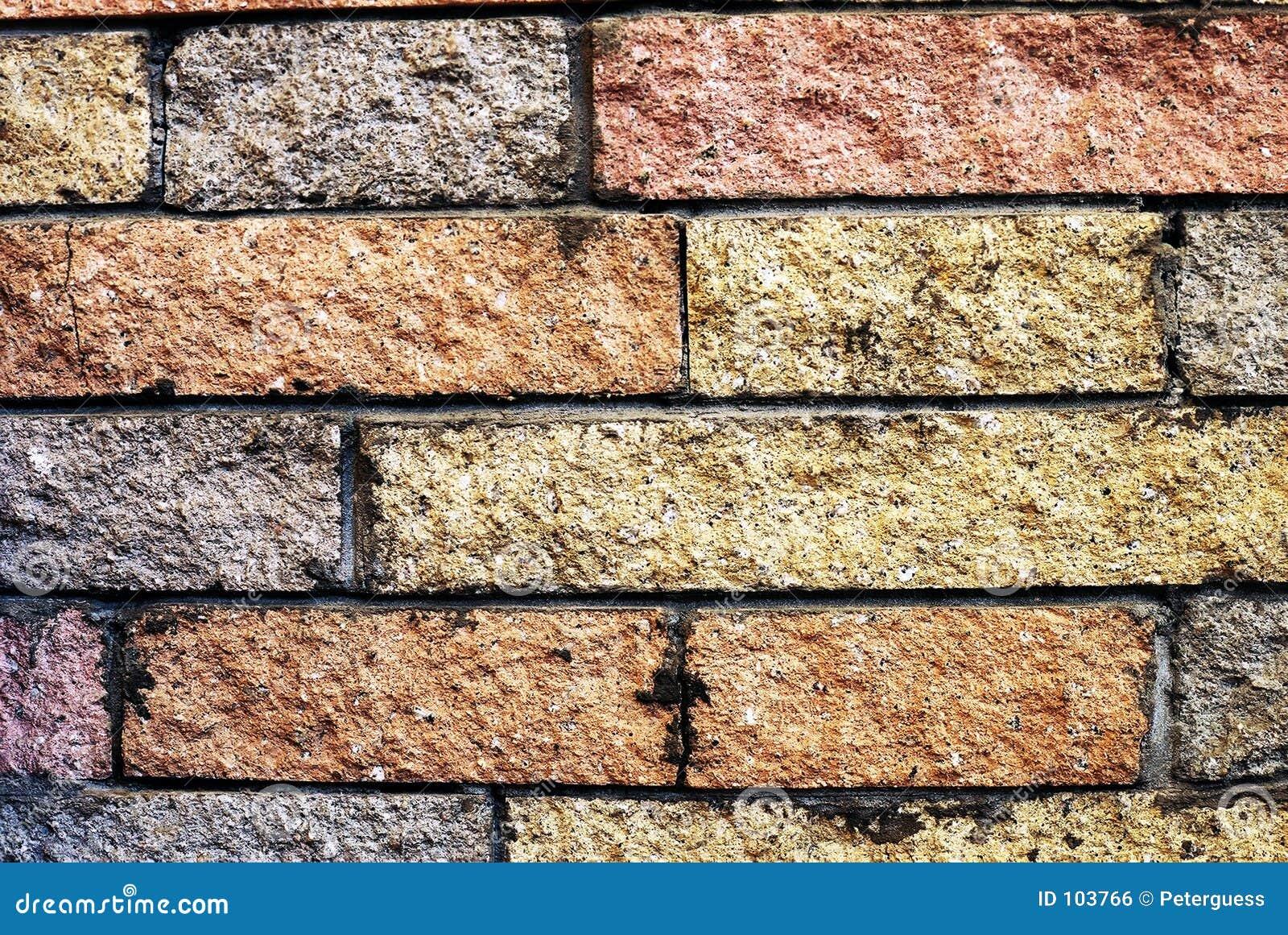 Decorative Brick Wall (70s Hearth) Royalty Free Stock Image - Image ...