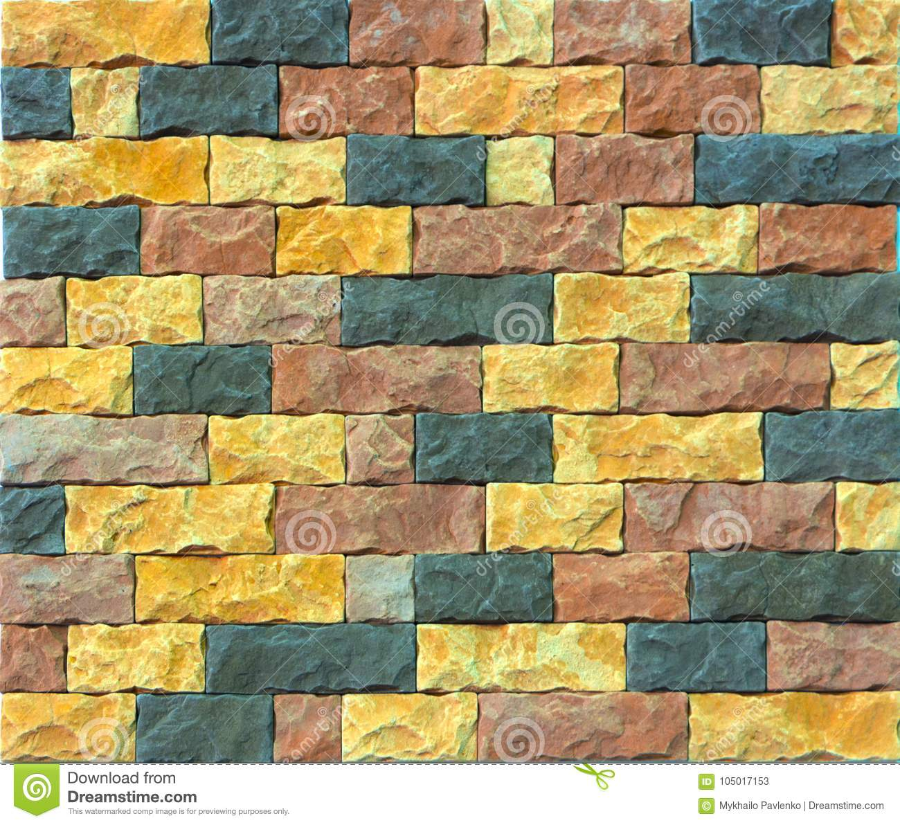 Decorative Brick Wall From Concrete Facing Tiles As Background Or ...