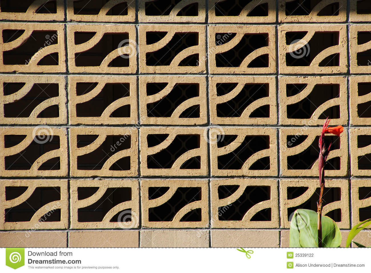 Decorative Brick Wall On Patio Stock Photography Image