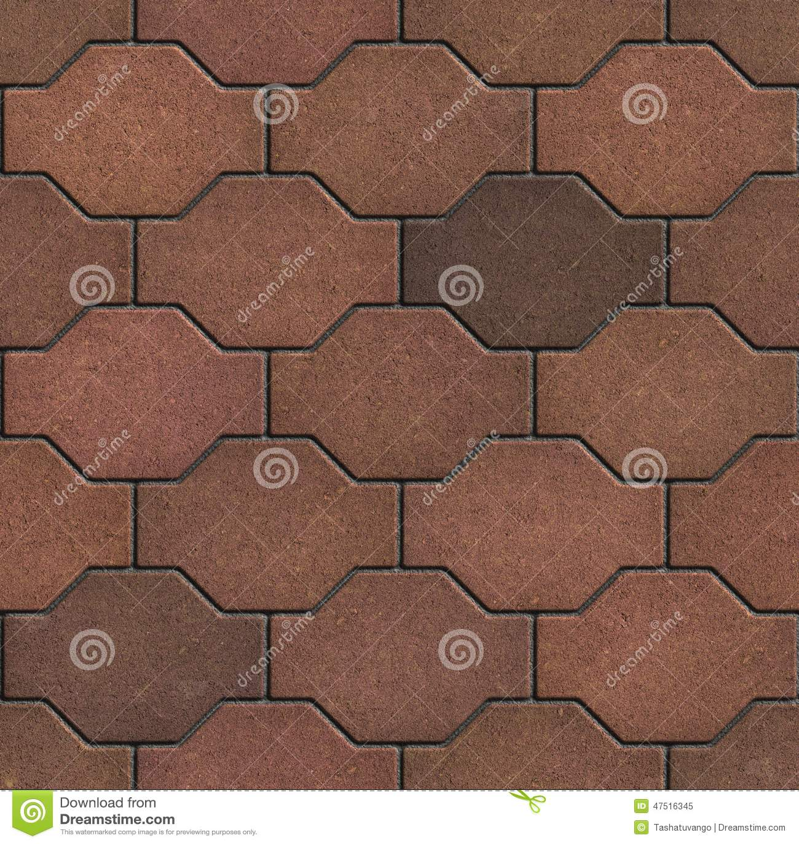 Decorative Brick Pavers decorative brown brick pavers. stock illustration - image: 47516345