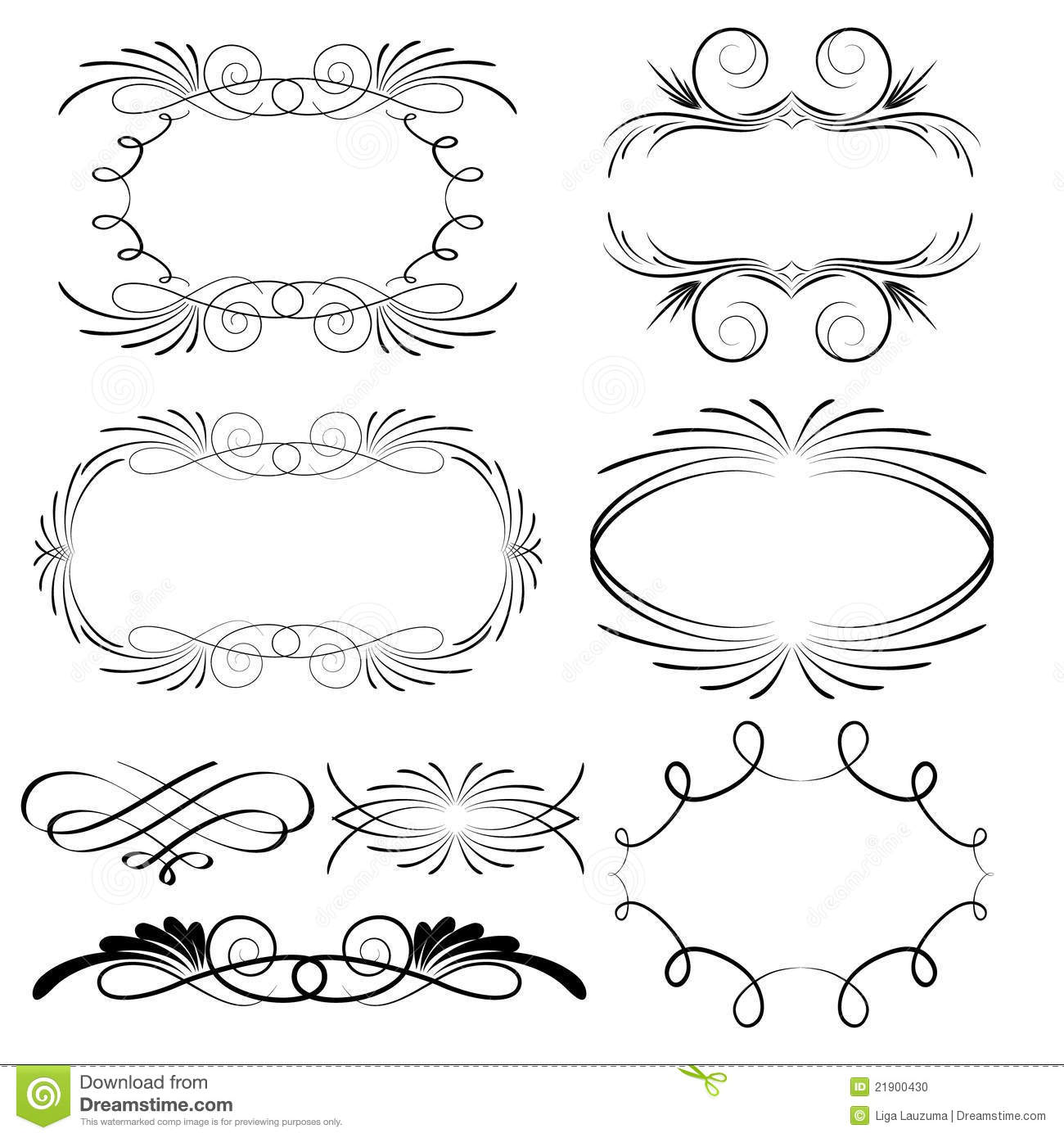 Decorative Calligraphic Frames Stock Vector Image 21900430
