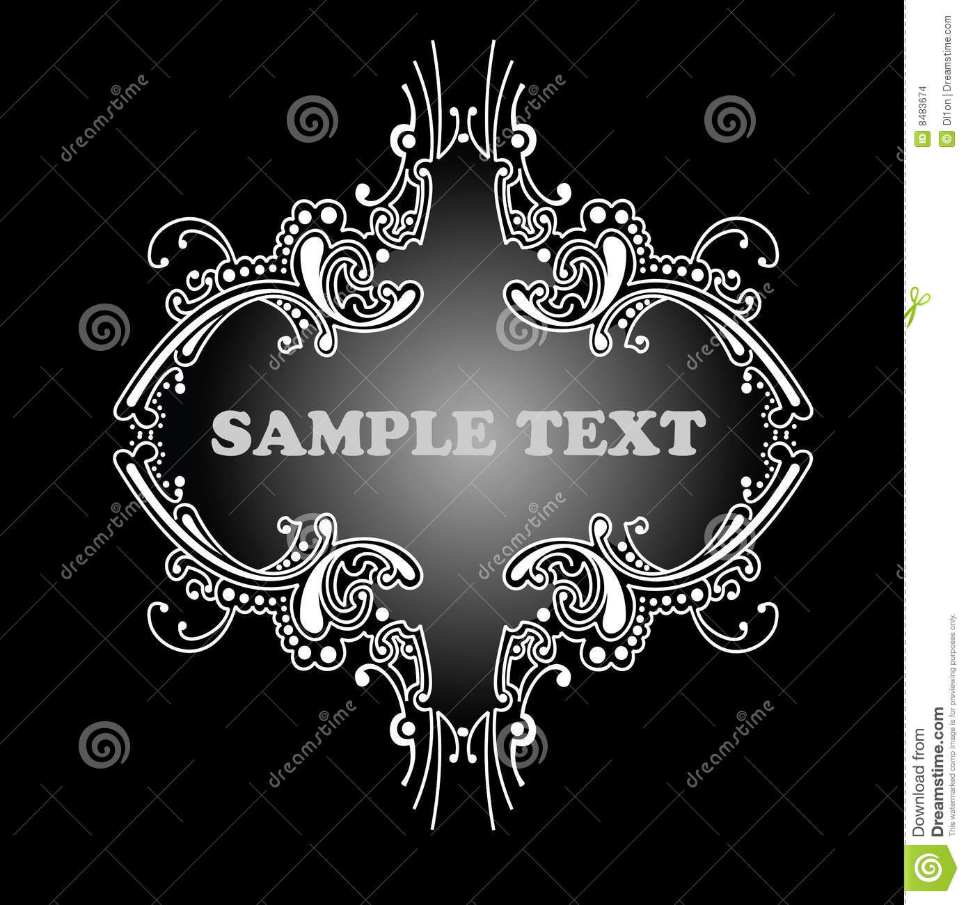Decorative calligraphy banner stock images image