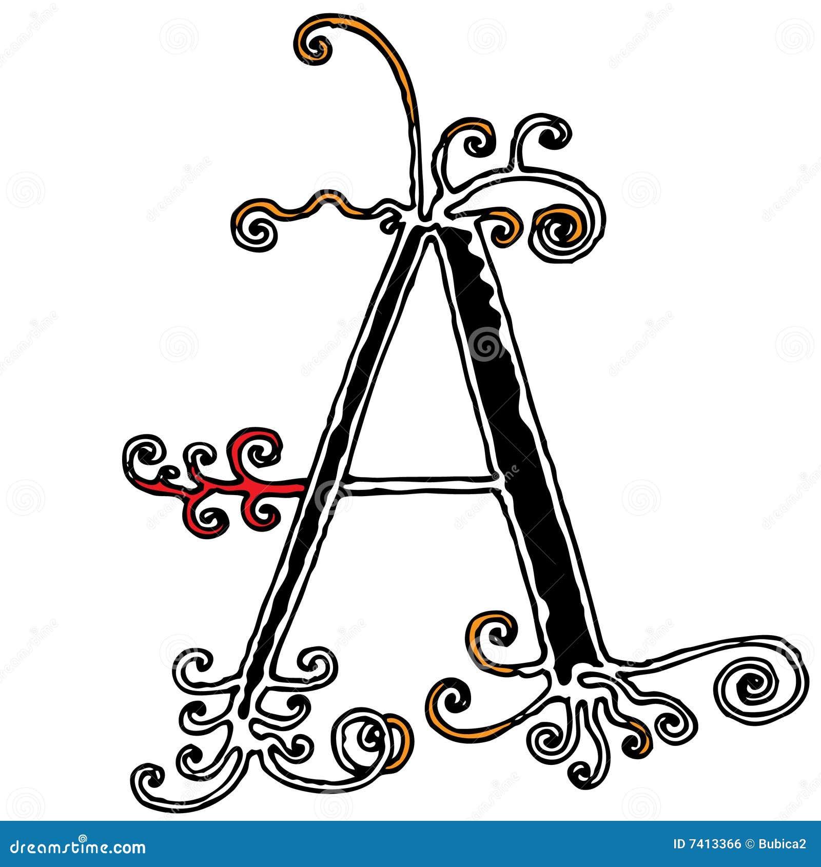 Decorative Capital Letter Stock Illustrations 7906 Vectors Clipart