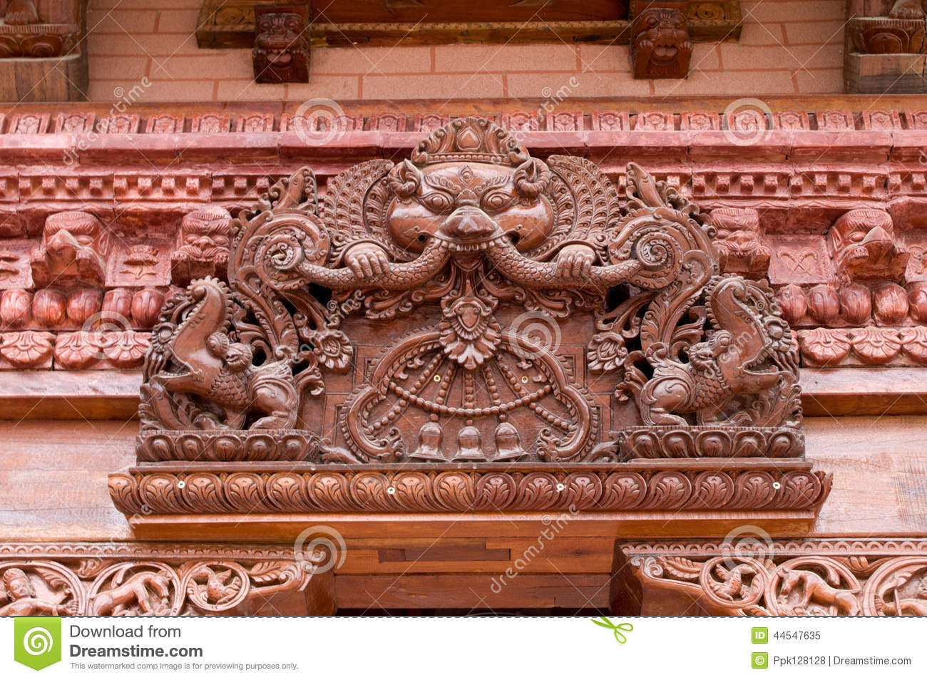 Decorative carvings stock image of artifact