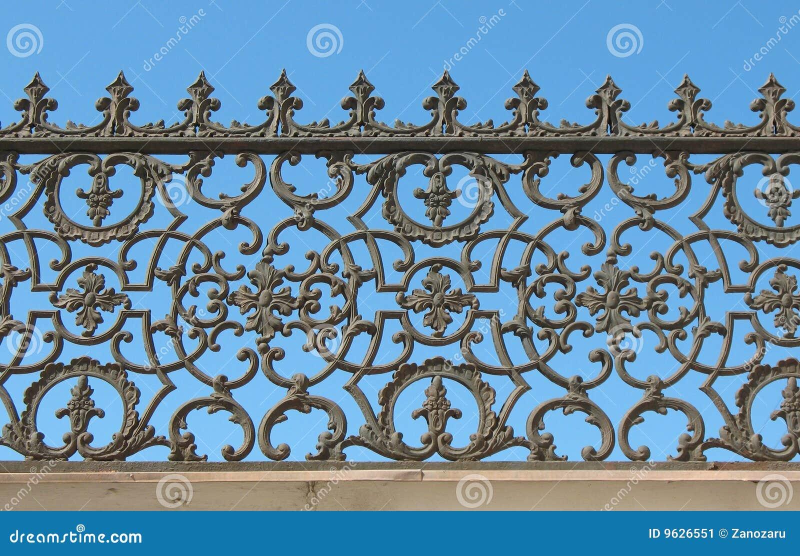 Decorative Cast-iron Fence Stock Image