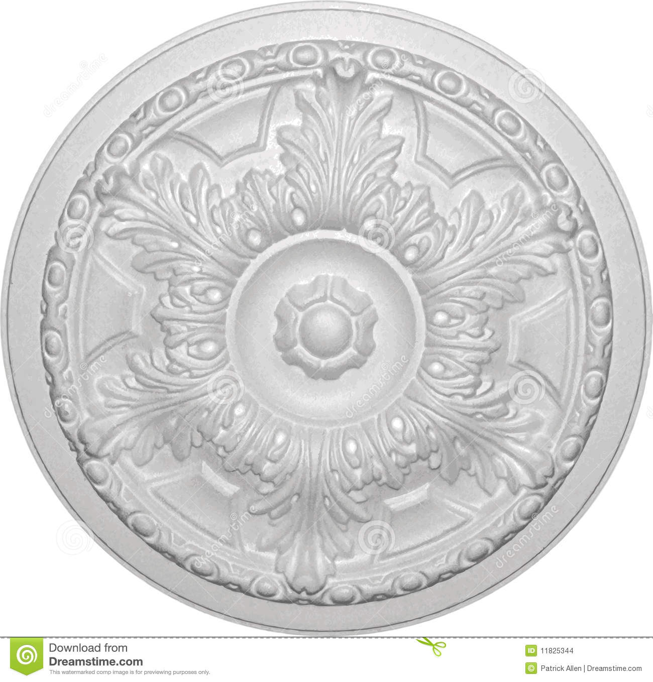 Decorative Ceiling Rose 05 Stock Vector Illustration