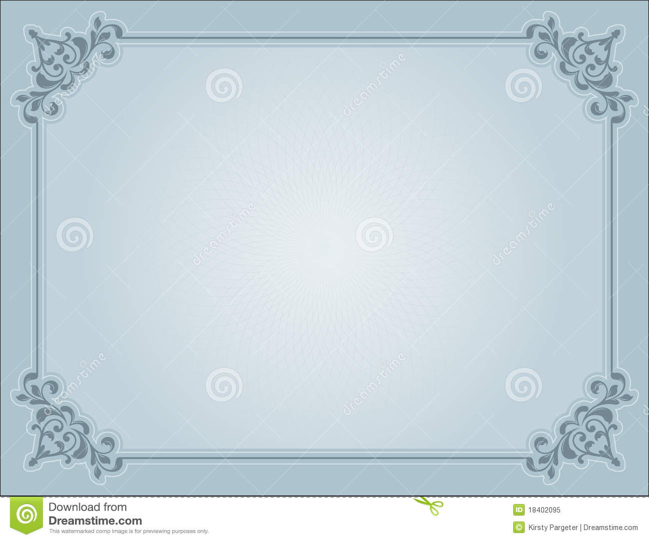 decorative certificate royalty free stock photo image