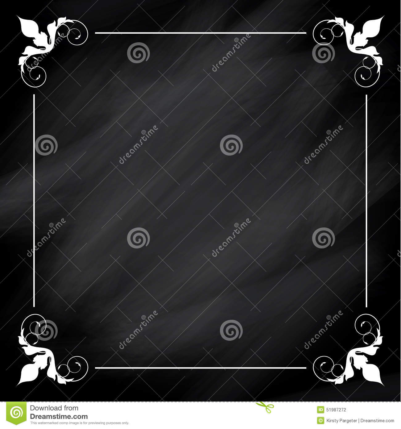 Chalkboard Background With A Decorative Border