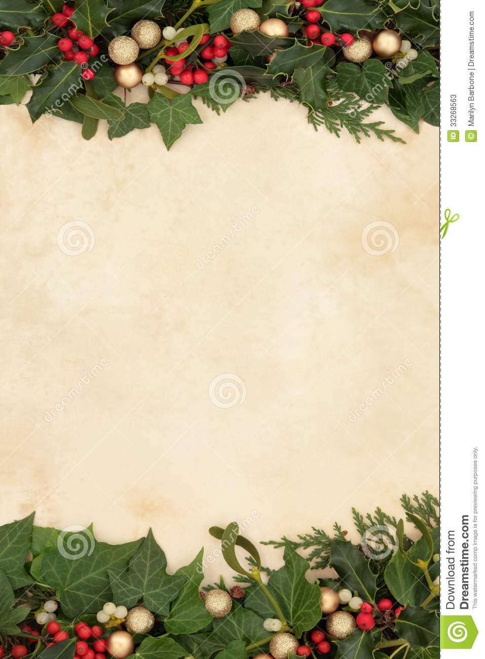 Decorative Christmas Border Stock Photos - Image: 33268563