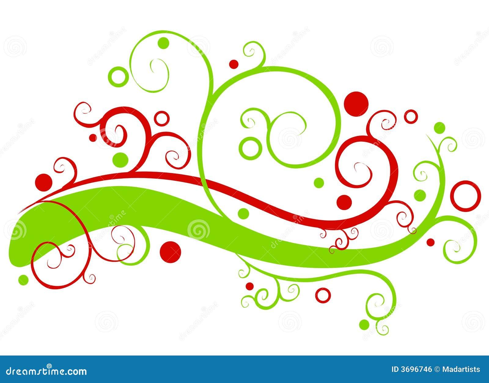 Decorative Christmas Garland Swirls Royalty Free Stock Image - Image ...