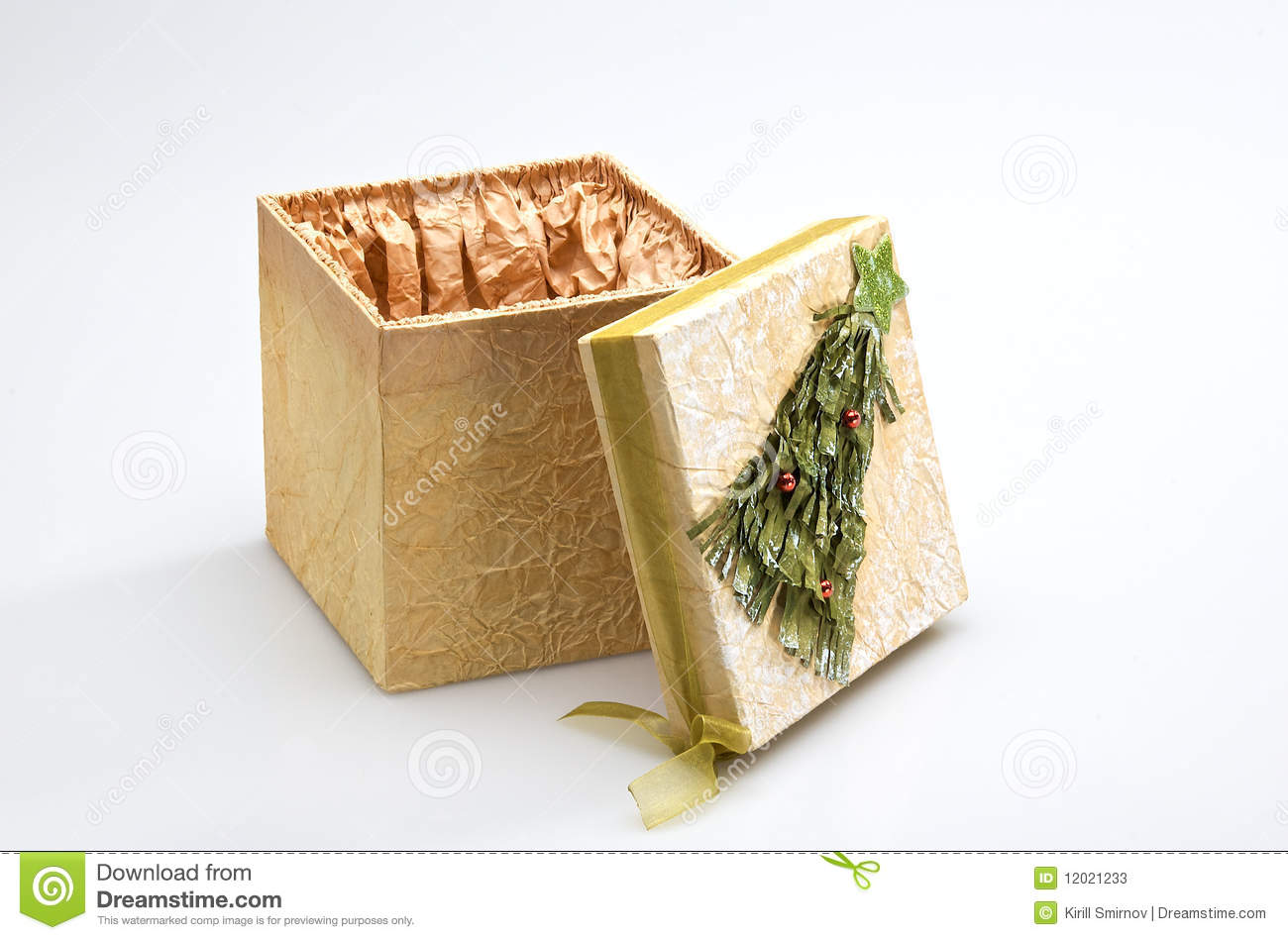 Decorative Christmas Gift Box Stock Photos