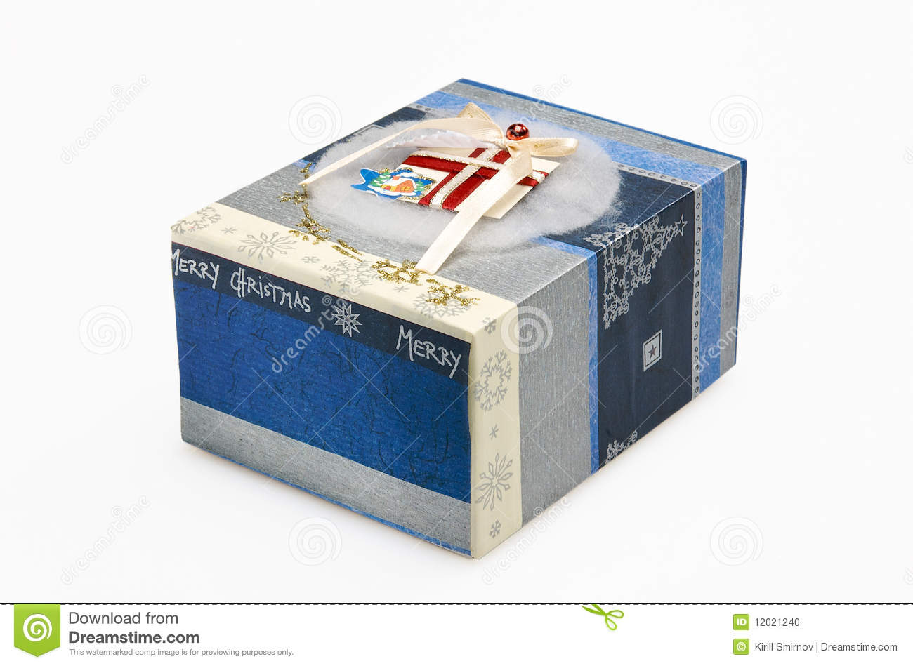 Decorative Christmas Gift Box Stock Photo