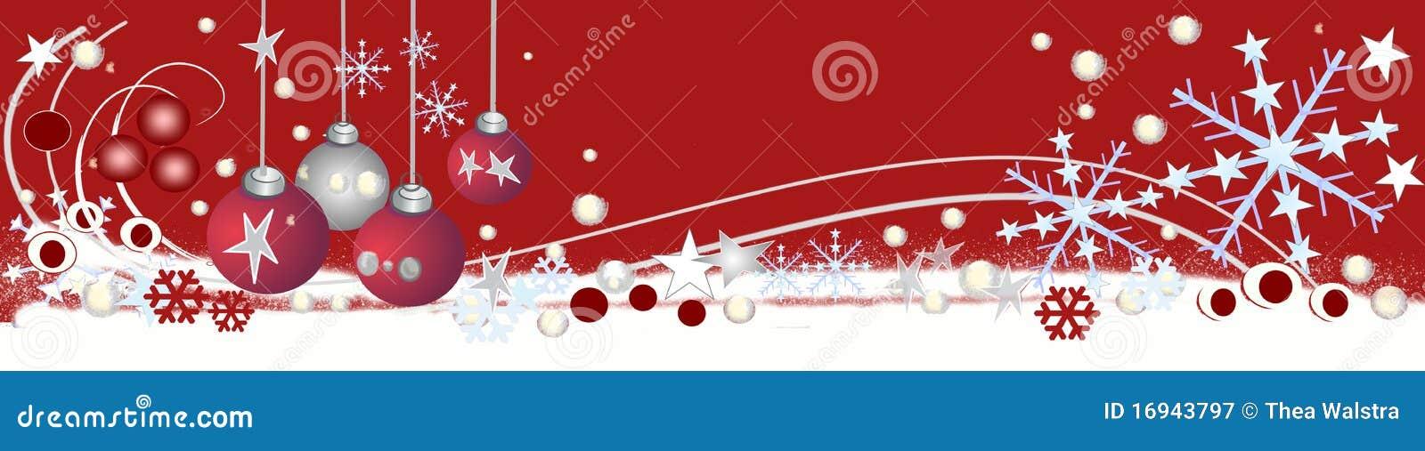 Christmas Header.Decorative Christmas Header Stock Illustration