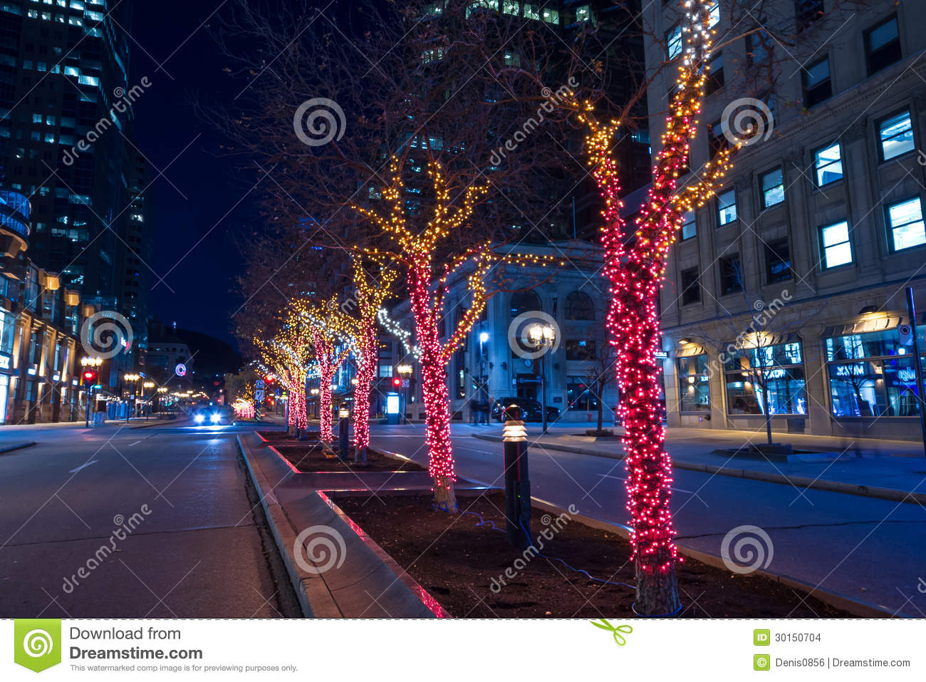 Decorative christmas lights stock illustration image for Lumiere de noel exterieur