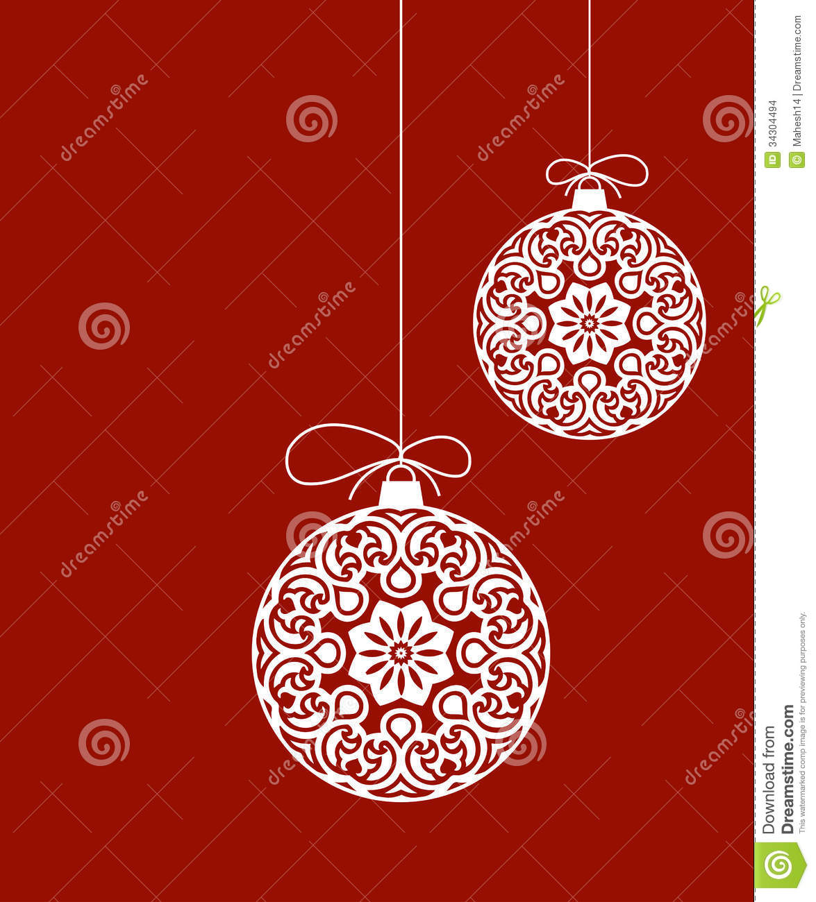 Decorative Christmas Ornaments Stock Vector Illustration Of