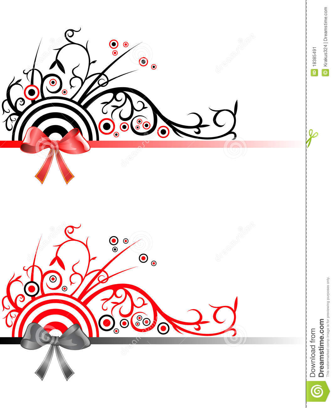 Decorative Christmas Ribbon Borders Stock Illustration ...