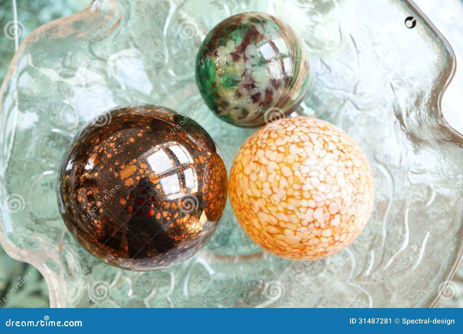 Decorative christmas spheres stock image