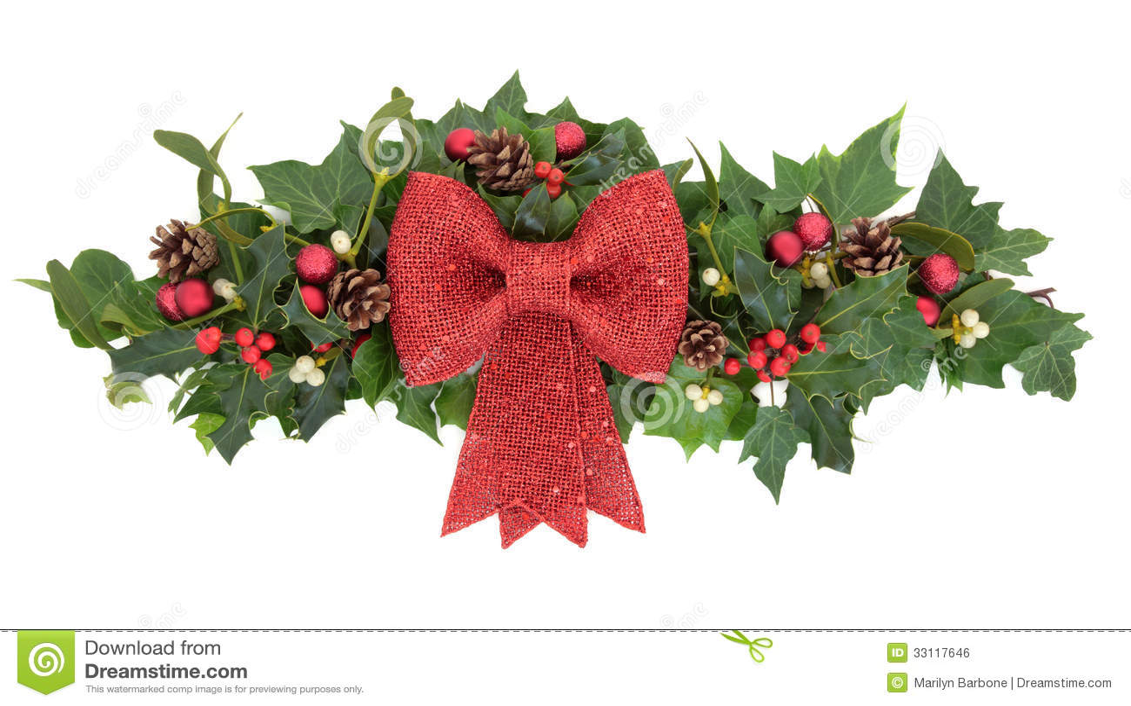 Decorative Christmas Spray Stock Photo Image Of Winter