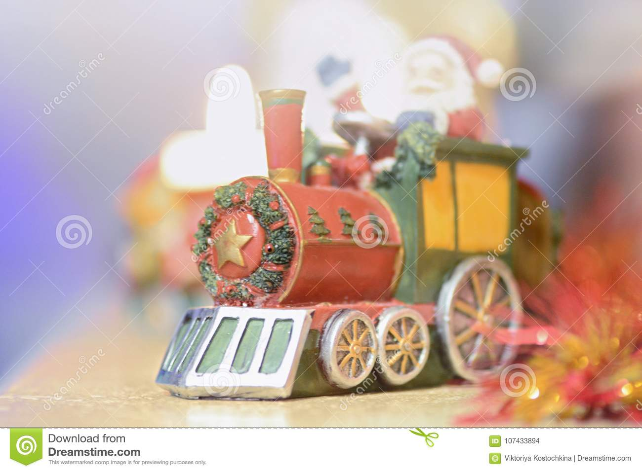 decorative christmas train