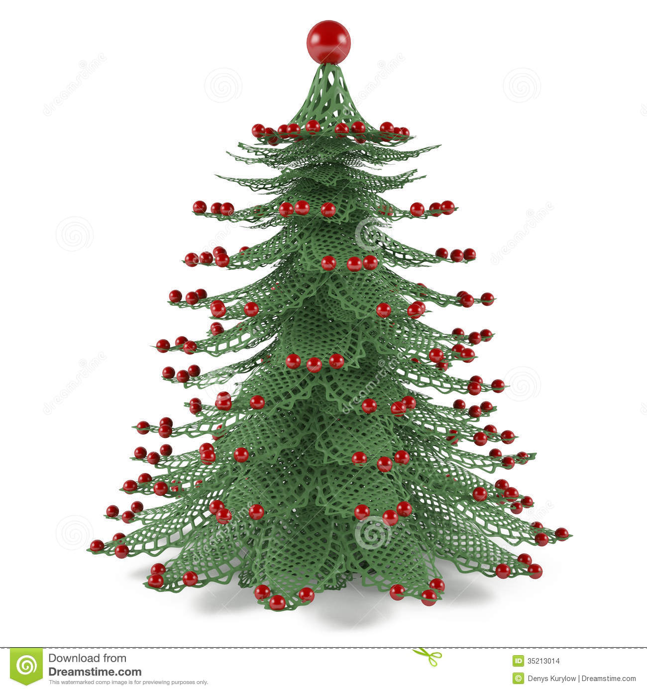 Christmas Tree With Toys : Decorative christmas tree toy stock illustration image