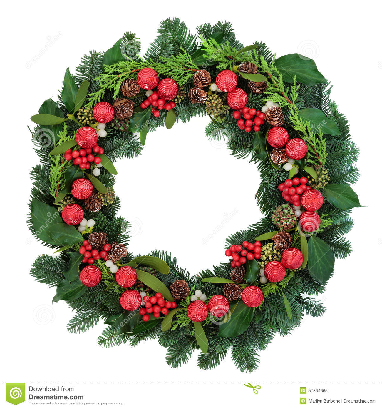 download decorative christmas wreath stock image image of noel greeting 57364665