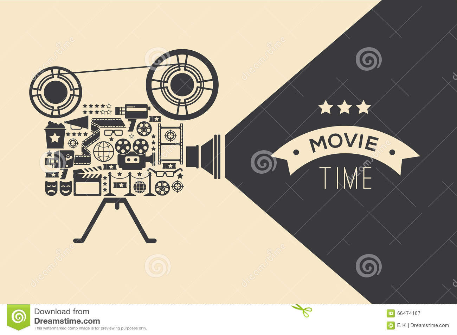 Decorative cinema template.