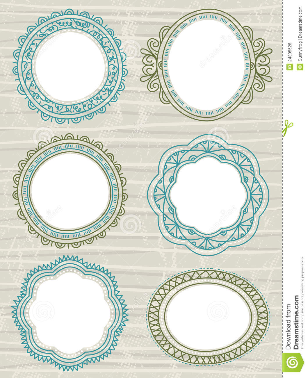 decorative circle labels vector stock vector illustration of grunge doodle 24805526. Black Bedroom Furniture Sets. Home Design Ideas