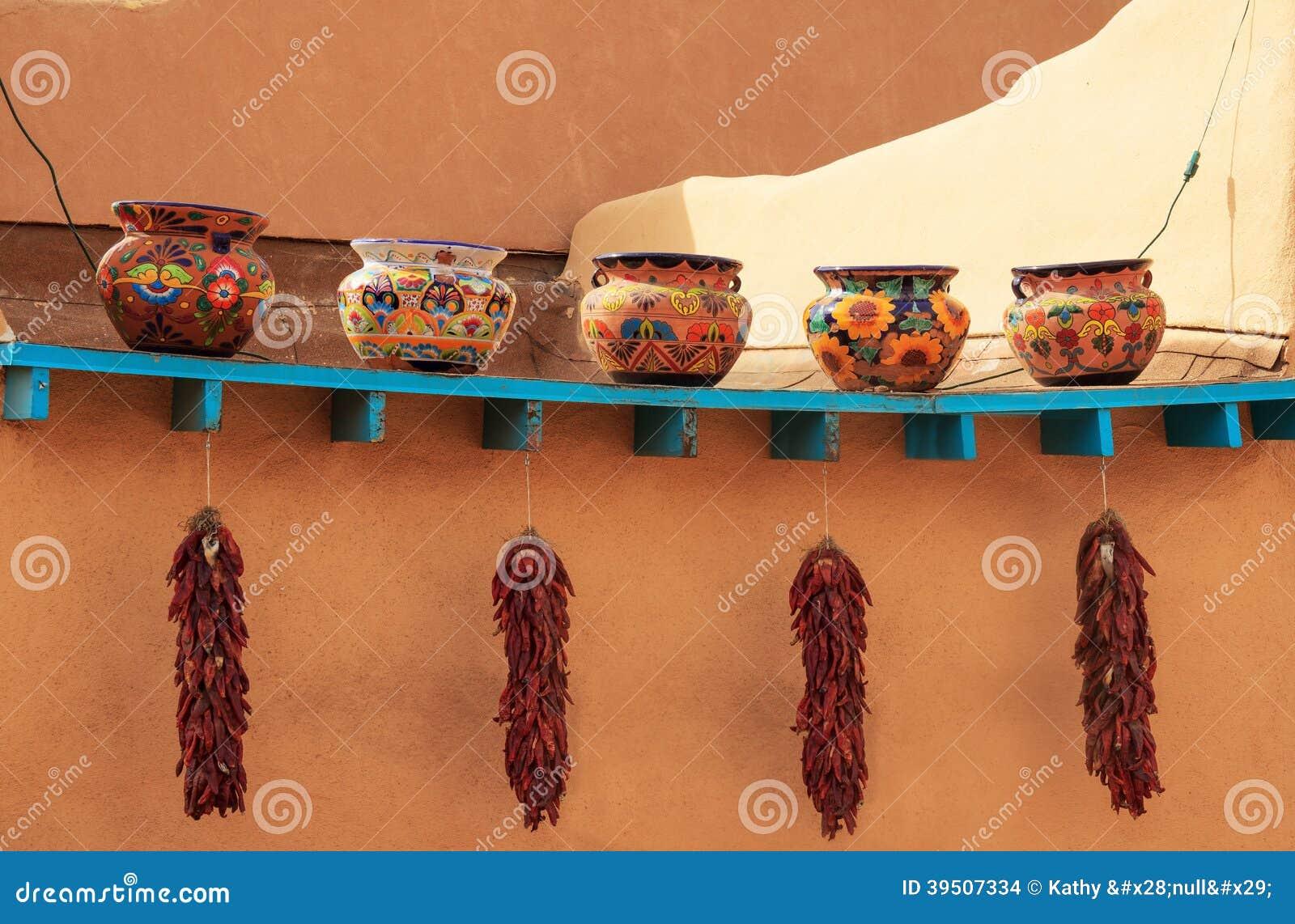Decorative clay pots