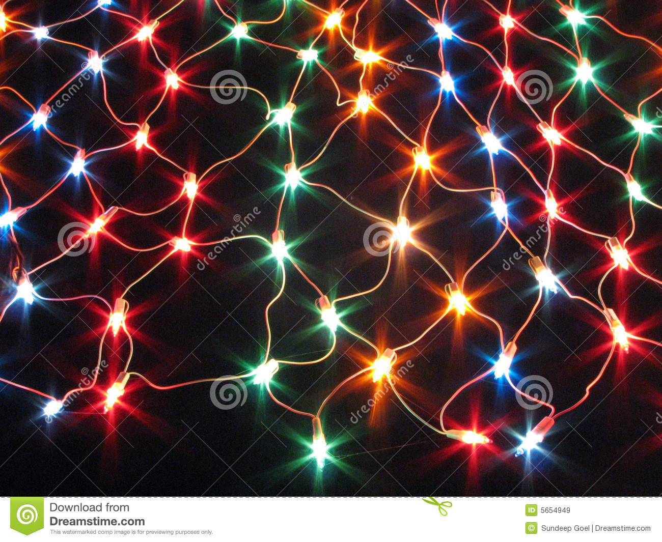 Decorative Colourful String Light Net Royalty Free Stock Images - Image: 5654949