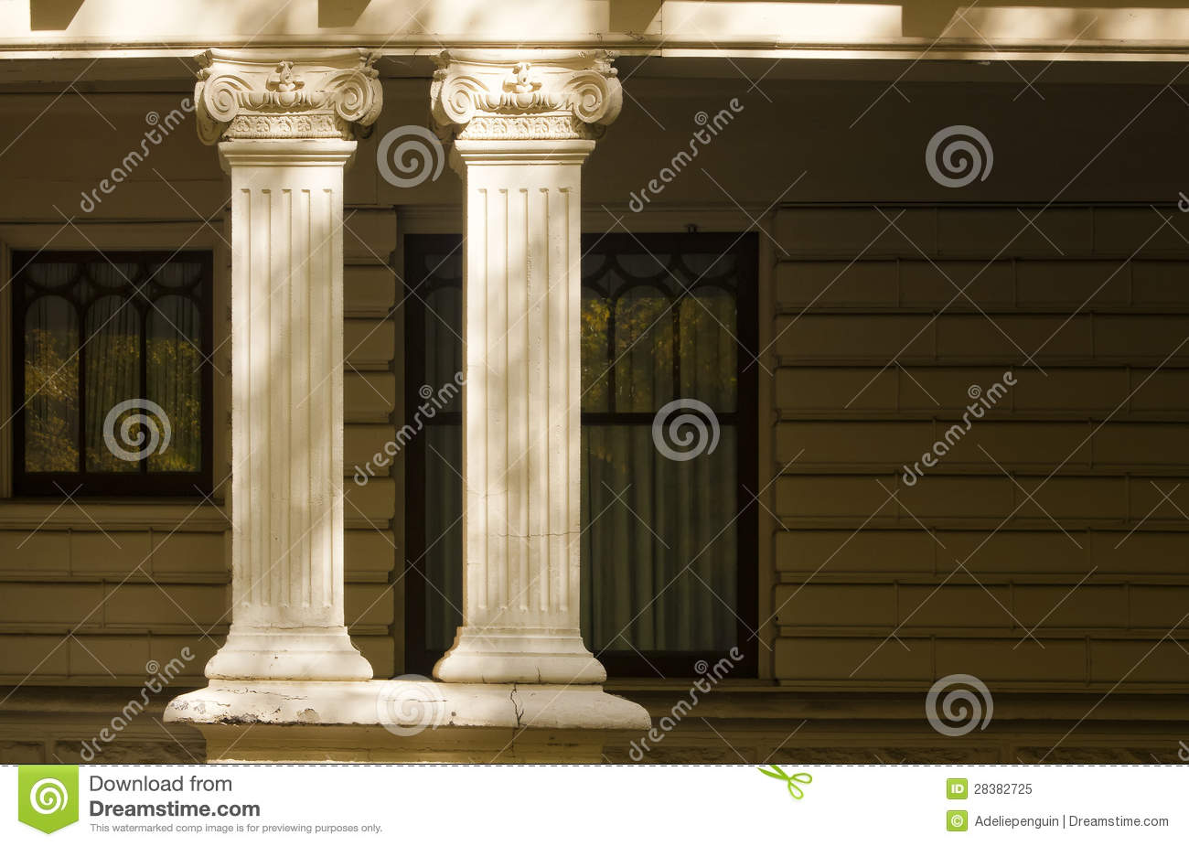 Decorative Columns Residential Architecture Stock Image