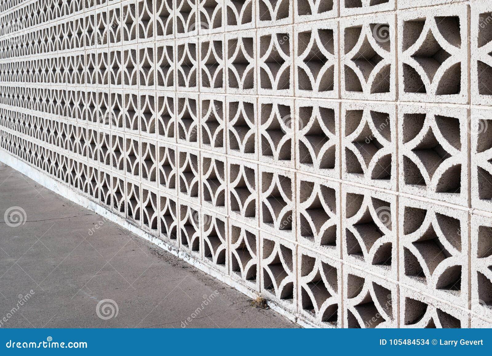 Decorative Masonry Screen Wall Stock Photo Image Of Concrete Line