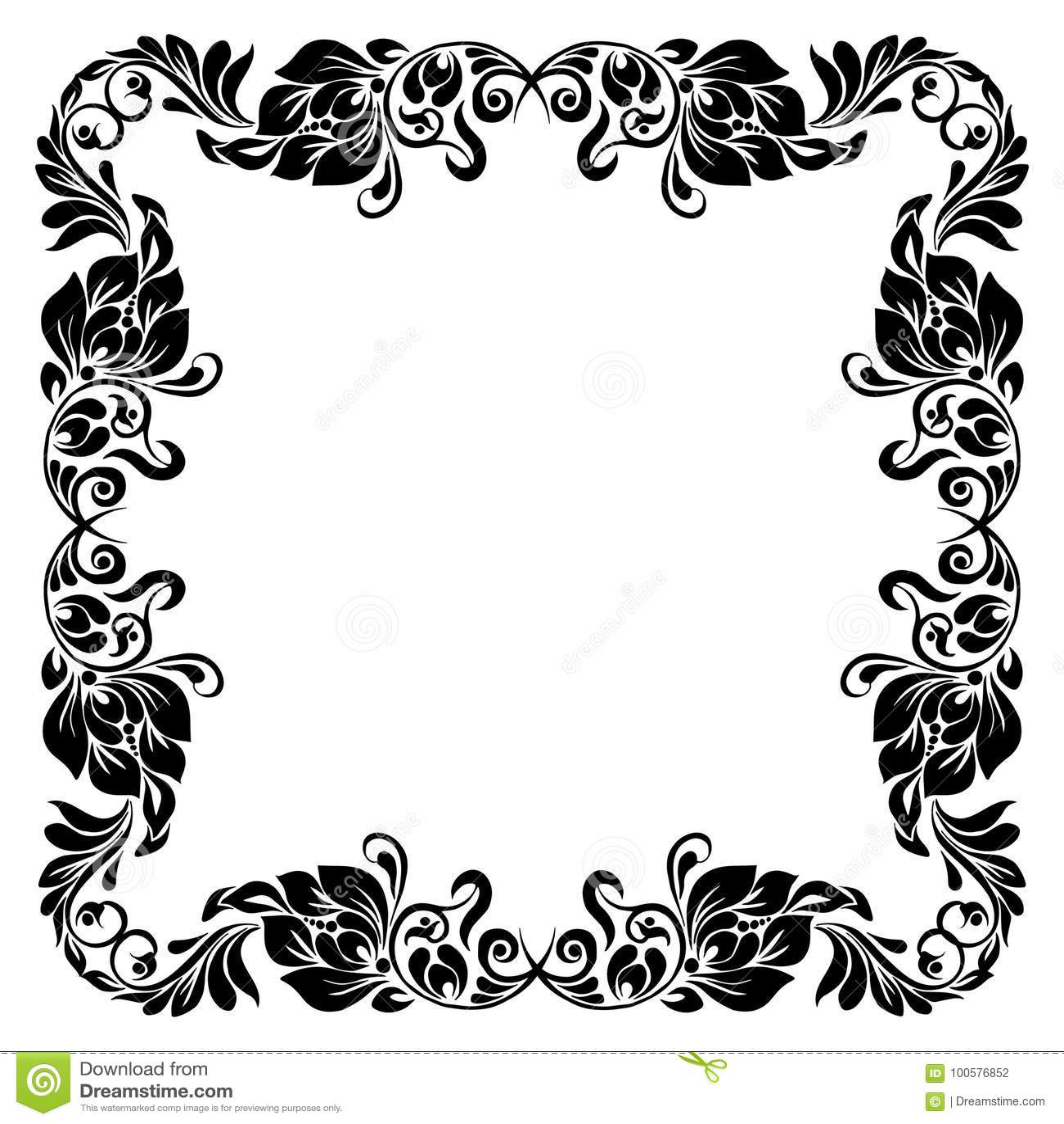 Decorative corner frame stock vector  Illustration of scroll