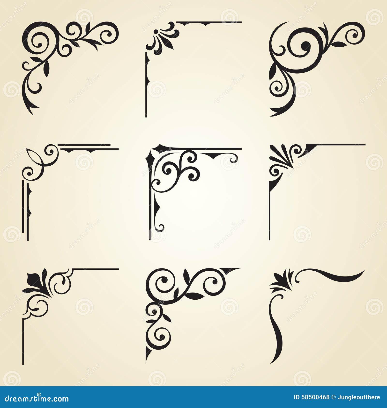 decorative corner frames stock vector image 58500468 frames and borders